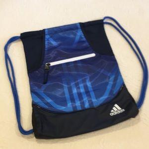Adidas drawstring back pack cobalt blue